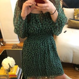 BCBGMAXAZRIA Green and Navy Blue dress